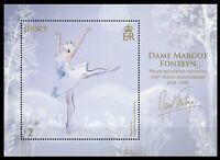 Jersey 2019 MNH Dame Margot Fonteyn Prima Ballerina 1v M/S Ballet Dance Stamps