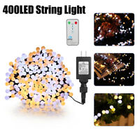 400 LED Christmas String Lights Wedding Party Decor Outdoor Indoor Lamp US PLUG