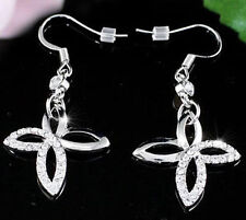 Crystal Butterfly Silver Plated Fashion Earrings