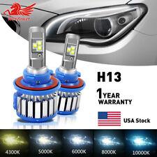 H13 9008 CREE LED Headlight Bulbs High/Low Beam Lamps 70W 14400LM 6000K White US