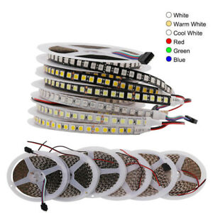 DC12V LED Strip 5050 RGB 120LEDs/m Black PCB/White PCB Flexible LED Light 5m/lot