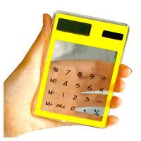 Transparent Calculator Clear Scientific Calculator Solar Energy Led Clear C U9X6