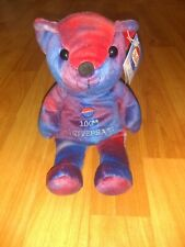 100th Anniversary Limited Edition PEPSI-COLA Red & Blue Bean Bear #09451