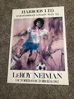 Vintage 1982 LEROY NEIMAN HARRODS Knightsbridge London Soccer Print