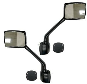 New Hood Mounted Rear View Mirror PAIR FOR 2010 2011 2012-2017 Peterbilt 587