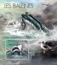 BELUGA WHALE & BLUE WHALE Marine Life Stamp Sheet #2 of 7 (2012 Burundi)