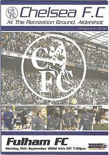 Football Programme>CHELSEA RESERVES v FULHAM RESERVES Sept 2002