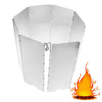 Foldable Burner Windshield Outdoor Camping Cooking Gas Stove Wind ShieWRY ki