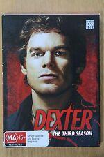 Dexter : Season 3 (DVD, 2009, 4-Disc Set)    VGC Pre-owned (D49)