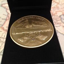 QUEEN MARY COIN MEDAL (MADE FROM PROPELLER ) COLLECTABLE