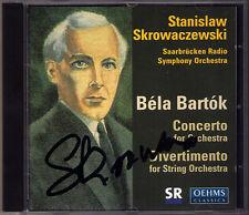 Stanislaw Skrowaczewski firmato Bartok Concerto for Orchestra divertimento CD