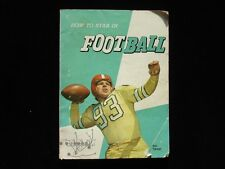 1960 'How to Star in Football' by Herman L. Masin Booklet - VG-EX