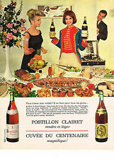 PUBLICITE ADVERTISING  1962    POSTILLON CLAIRET  vin
