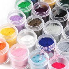 Nail Art 24 Jumbo Velvet Flocking Powder Tips UV Polish For Liquid Deco Sets