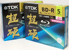 10 pack TDK Inkjet Printable Blu-Ray 6X 50GB BD-R (FREE PRIORITY MAIL shipping)
