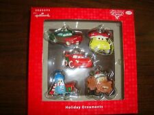 Disney---Cars---Hallmark---5 Holiday Ornaments---Boxed Set