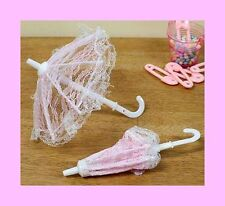 Mini Umbrella Favors - PINK - Set of 6 for Baby Shower Favors - FREE SHIP