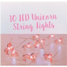 10 x LED Cute Unicorn Pink String Lights Fairy Battery Childrens Light Gift