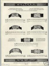 1938 PAPER AD 2 PG Waltham Wrist Watch 21 17 Jewel Curved Models