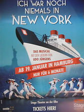 Ich war noch niemals in New York - Musical Hamburg  Plakat  Poster NEU & RAR !!!