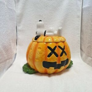 KAWS Snoopy Ceramic Cookie Jar OriginalFake Peanuts Medicom toy pumpkin