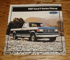 Original 1987 Ford Truck F-Series Pickup Sales Brochure 87 XL XLT Lariat