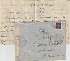 ITALY 1942 1L ON CENSORED AIRMAIL COVER FROM P.M. 115 TO CORTONA