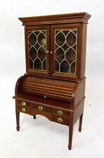 Dolls House Miniature Study Furniture Walnut George Washington Desk