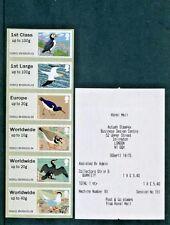 BIRDS 4 Post Go 2011 STAMPEX HYTECH 6xSTRIP  incl NEW 40g - MACHINE 93 - SCARCE
