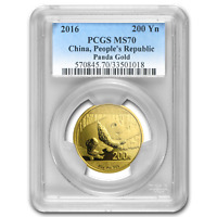 2016 China 15 Gram Gold Panda MS-70 PCGS - SKU #96679