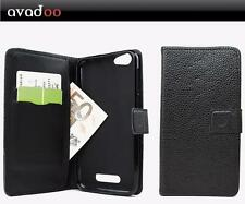 avadoo® Cubot Note S Flip Case Cover Tasche Leder in Schwarz Dualnaht Cover Hüll