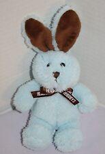 "Galerie Hersheys Chocolate Brown Blue Plush EASTER BUNNY RABBIT 7"" Stuffed Toy"