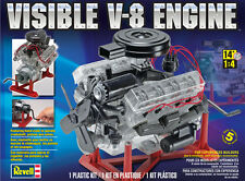 REVELL 1/4 VISIBLE V8 ENGINE PLASTIC MODEL KIT RE858883