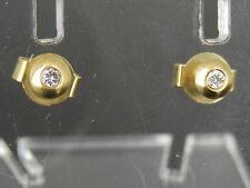 Ohrstecker in 585/14K Gelbgold mit Brillantbesatz 0,04ct. W / SI