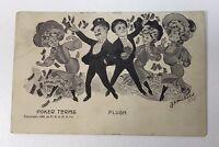 Vintage Antique Postcard  Poker Terms  Flush 1905 Unused P164
