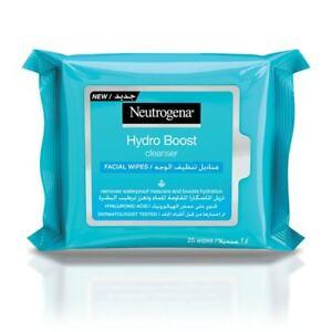 Neutrogena Hydro Boost Cleanser Face Wipes, 25 Wipes
