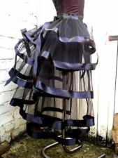Black tulle bustle belt skirt Victorian Steampunk Gothic Burlesque all colours