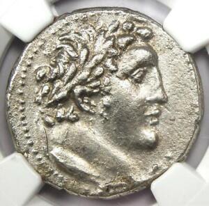 Phoenicia Tyre AR Shekel Bible Coin Melkart Eagle 28 BC. Certified NGC Choice XF