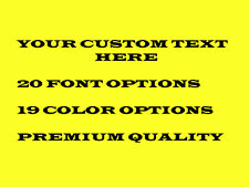 """2.5"""" YOUR CUSTOM TEXT Personalized Decal Sticker Letters car window wall bumper"""