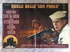 """FOTOBUSTA QUELLI DELLA """"SAN PABLO"""", The Sand Pebbles, R. Crenna, Steve McQeen."""