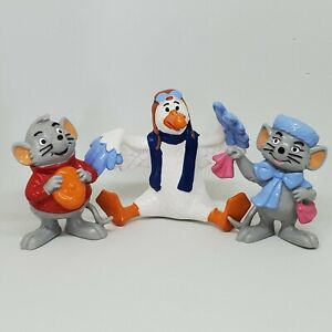 Vintage The Rescuers PVC Figure Lot Bully 1984 Disney Bianca Bernard Wilbur