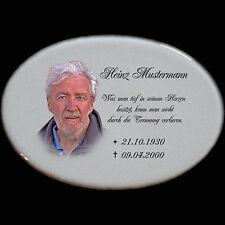 Grabsteine Grabplatte Gedenkstein Keramik Grabstein-p02►Ihr Foto+Inschrift◄15x10