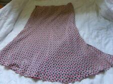Worthington l00% Silk Knee Length Asymmetrical Skirt  Lined Size 4