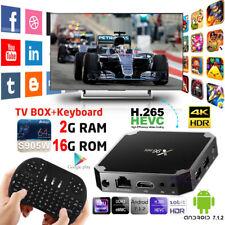 X96Mini Android 7.1.2 TV Box 2G 16G 4K VP9 HD Media Player +Free i8 USB Keyboard