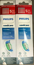 Philips Sonicare Simply Clean replacement toothbrush heads, HX6015/03, 10 total