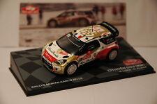 VOITURE RALLYE MONTE CARLO 2013 CITROEN DS3 WRC S.LOEB/D.ELENA WINNER 1/43  IXO
