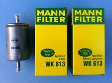 Mann WK 613 Kraftstofffilter 2x Benzinfilter Opel Audi Lotus Alfa Romeo FIAT