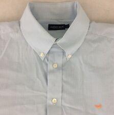 Southern Marsh Wrinkle Free EUC Light Blue Micro Gingham Button Down Shirt Sz 1