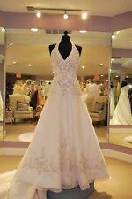 New Halter White/Ivory Wedding Dresses A-Line Bridal Ball Gowns Custom Size