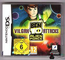 Nintendo DS GIOCO-ben 10 Alien Force: Vilgax colpisci-completamente in scatola originale